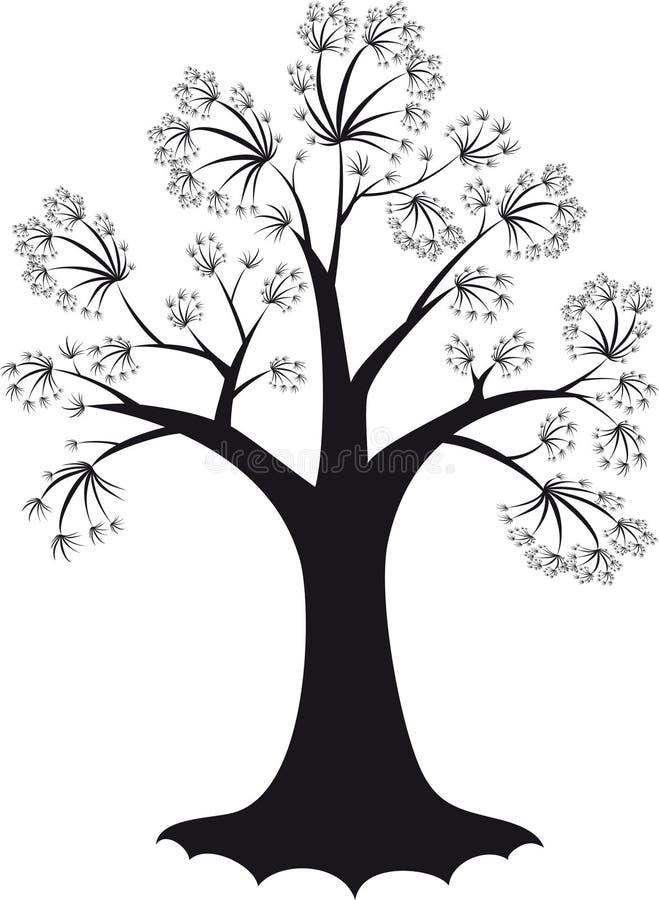 装饰结构树 免版税库存图片