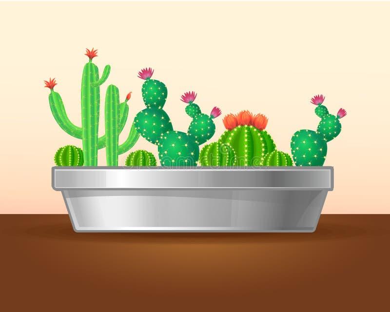 装饰绿色植物概念 库存例证
