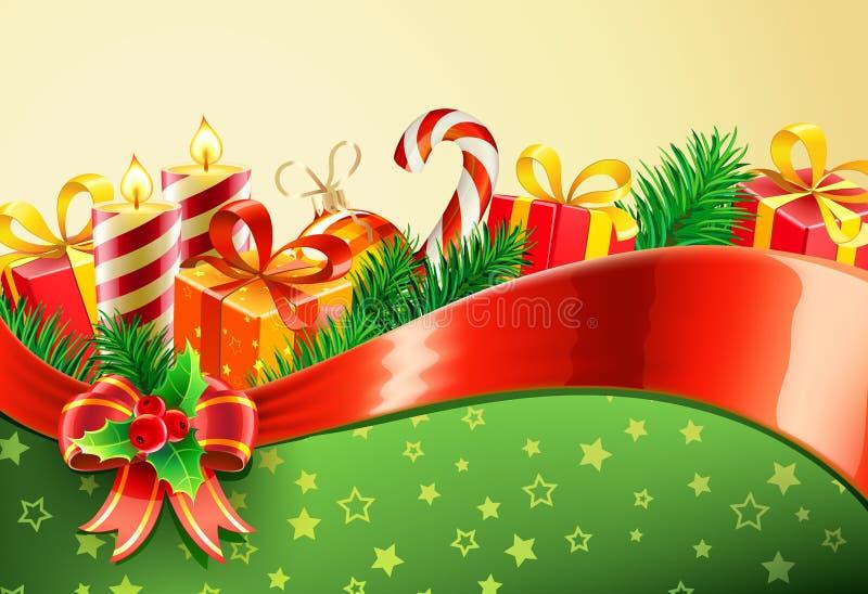 装饰背景的圣诞节 库存例证