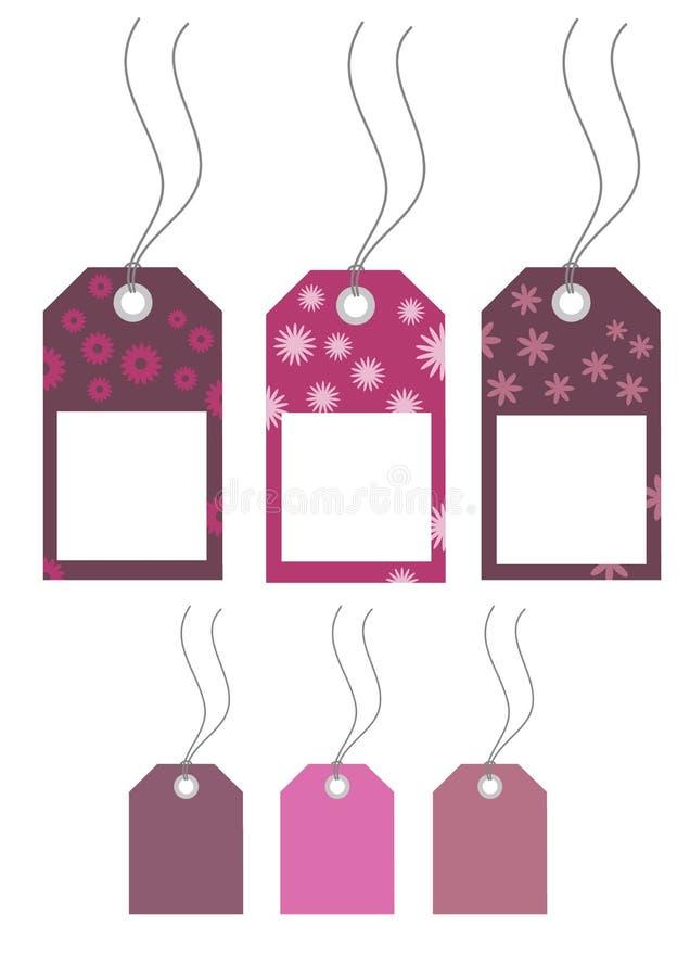 装饰花卉标签 向量例证
