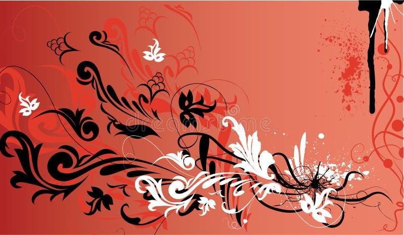 装饰花卉框架向量 皇族释放例证