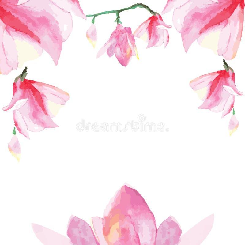 装饰花卉框架 皇族释放例证