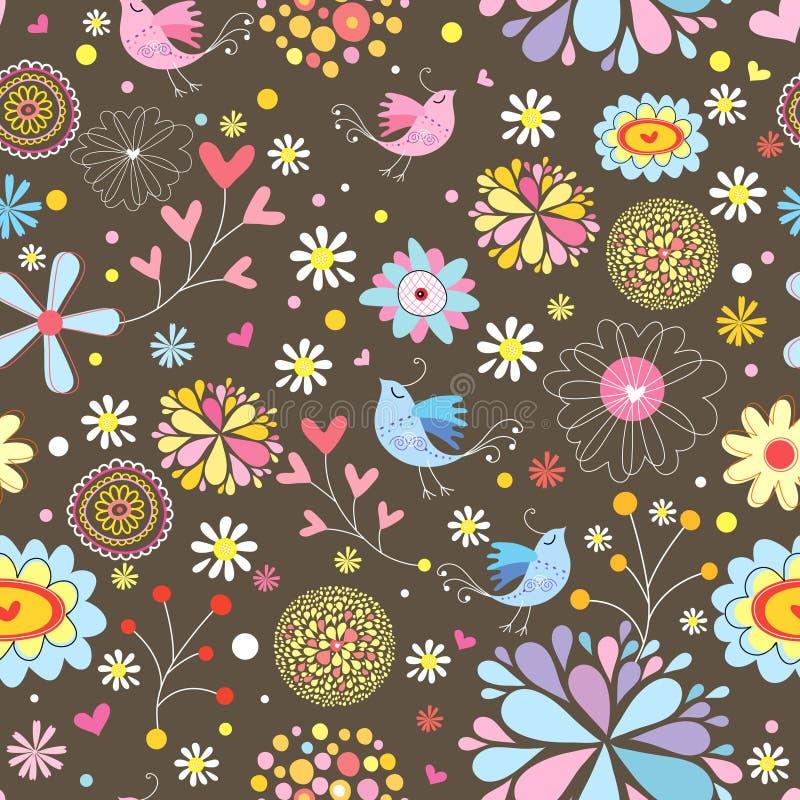 装饰花卉模式 皇族释放例证