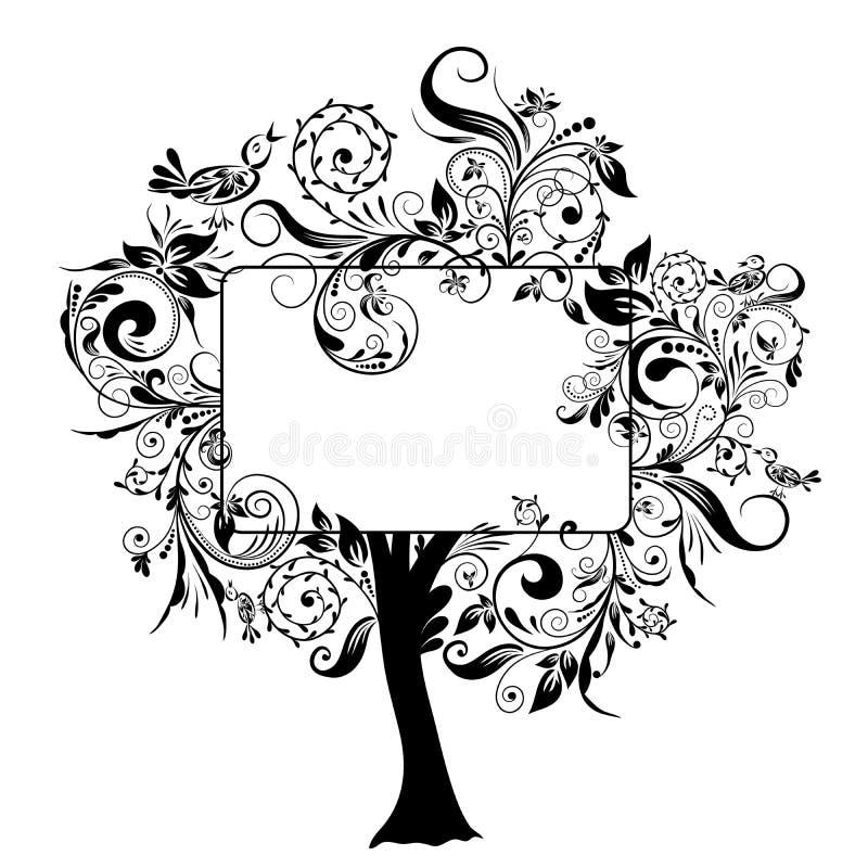 装饰花卉结构树向量 向量例证