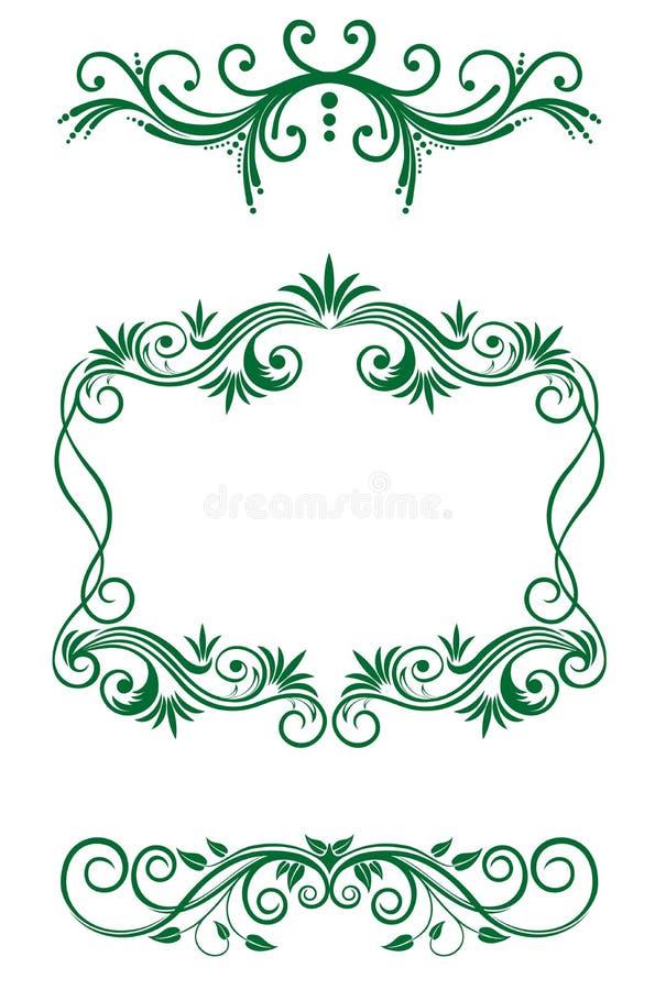 装饰花卉葡萄酒 皇族释放例证