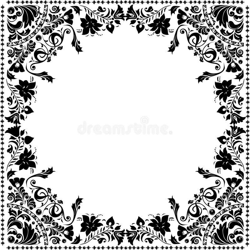 装饰花框架正方形 皇族释放例证
