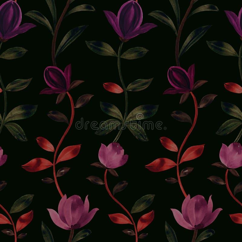 装饰花的无缝的样式 免版税库存照片