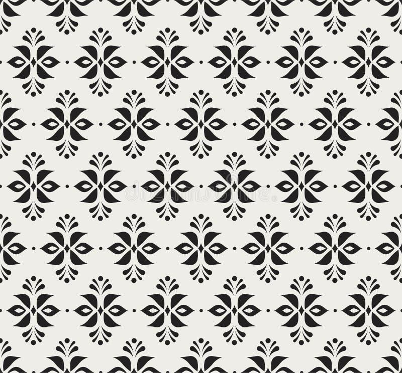 装饰花维多利亚女王时代的无缝的样式 传染媒介花卉抽象纹理 皇族释放例证