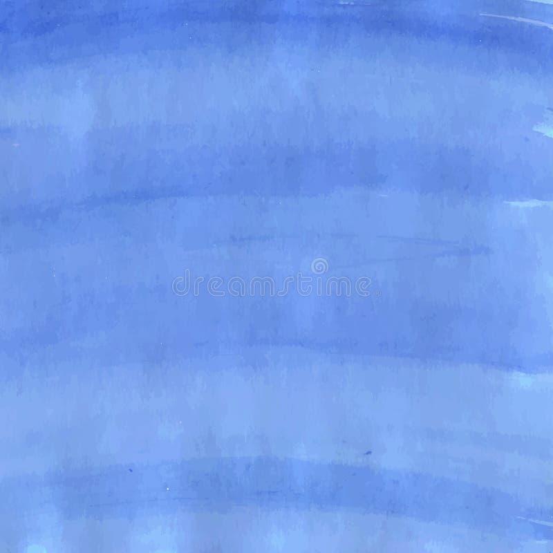 装饰蓝墨水 向量例证