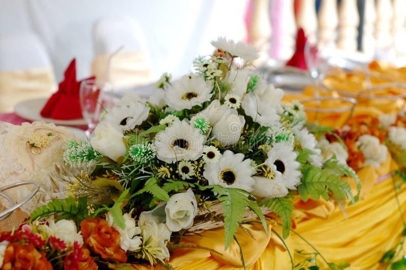 装饰表婚礼 库存图片