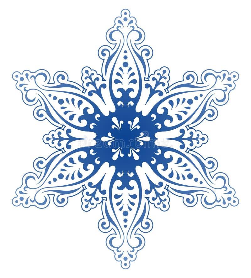 装饰装饰品雪花向量 皇族释放例证