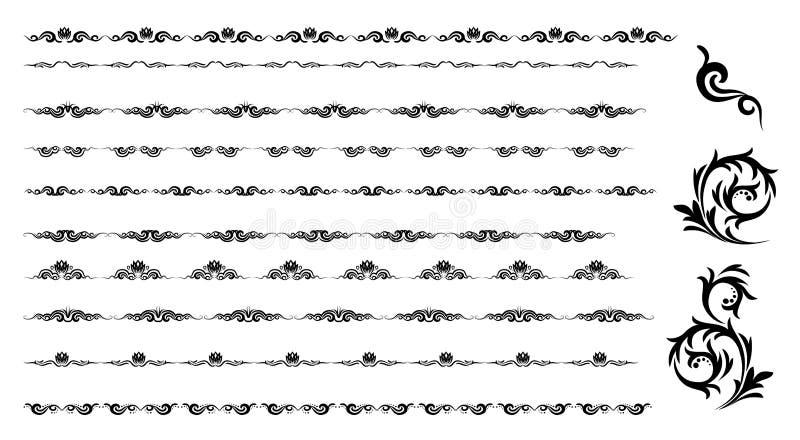 装饰要素水平的向量 皇族释放例证