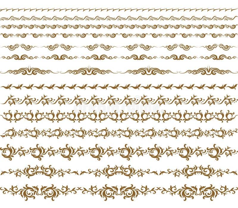 装饰要素水平的向量 库存例证