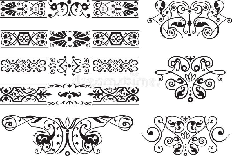 装饰要素装饰品 向量例证