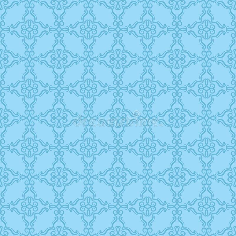 装饰要素花饰葡萄酒 织品和墙纸的无缝的样式 向量例证
