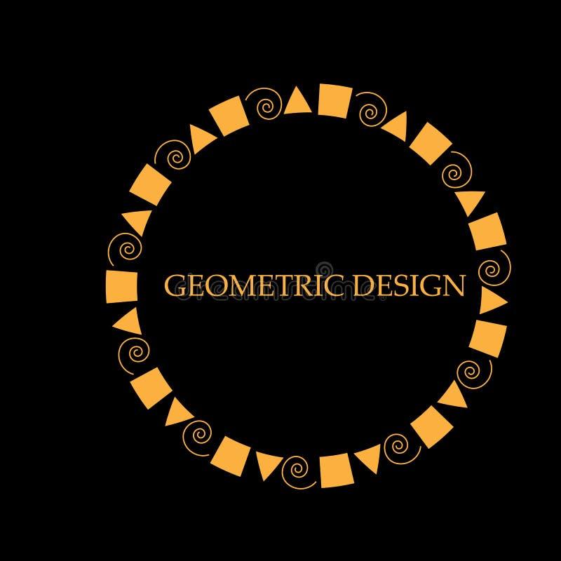 装饰设计模板的线艺术框架 典雅的传染媒介元素东部样式,文本的地方 向量例证