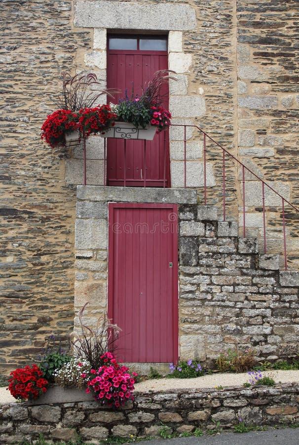 装饰门的研究 库存照片