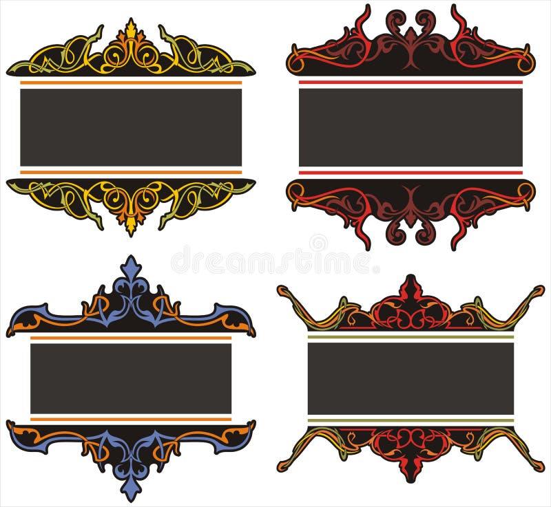 装饰面板 皇族释放例证