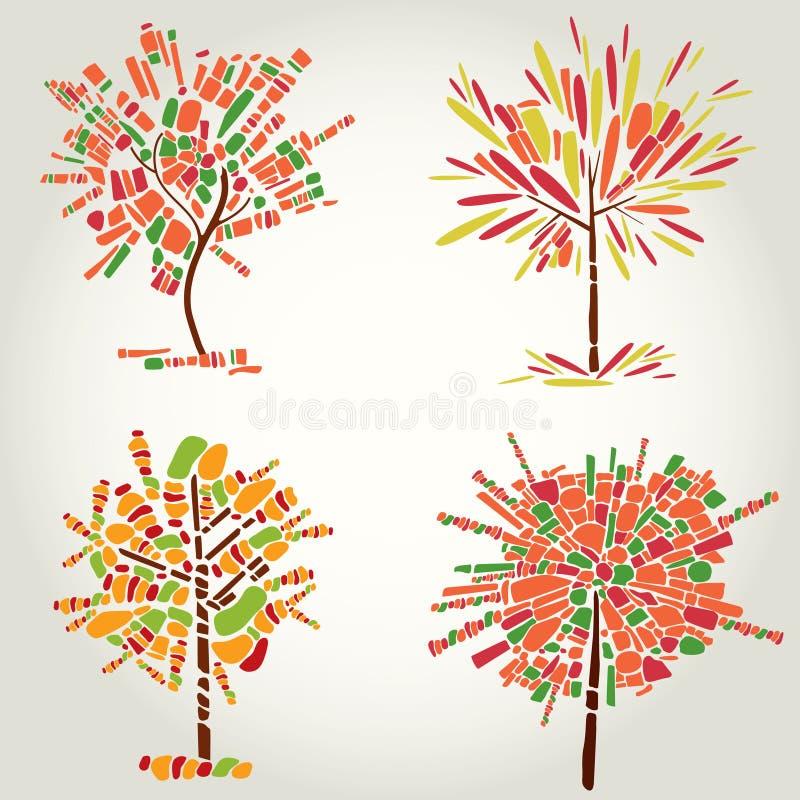 装饰马赛克感恩结构树 皇族释放例证