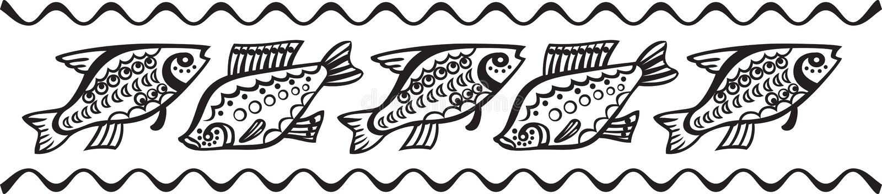 装饰鱼样式 皇族释放例证