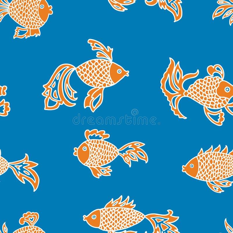 装饰鱼的传染媒介样式 向量例证