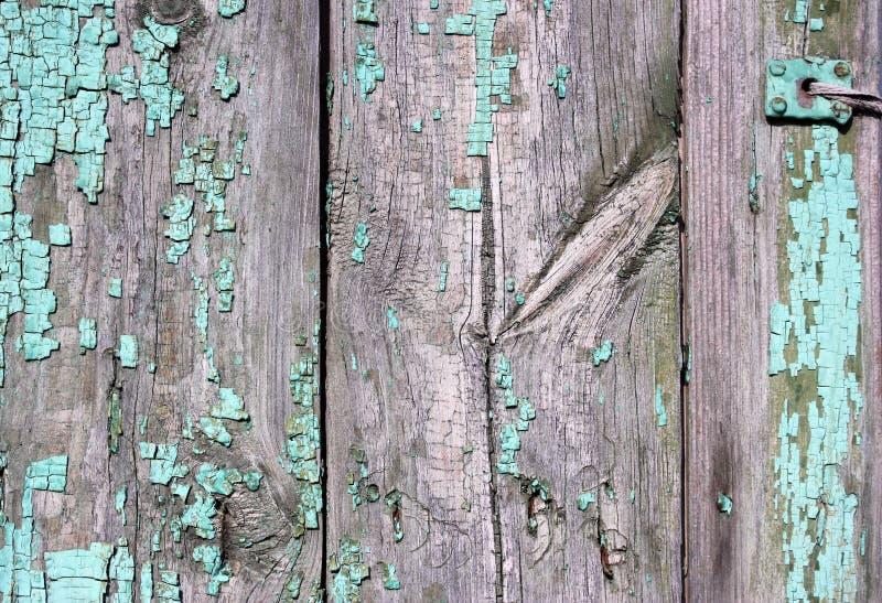 装饰,元素,城市 有时间踪影的木篱芭  绿色,灰色 能使用作为背景 图库摄影