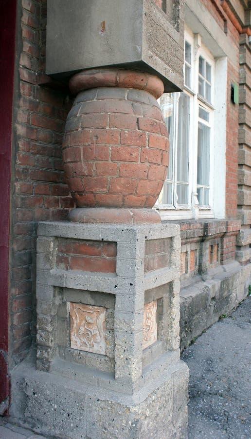 装饰,元素,豪宅墙壁,艺术Nouveau样式 手工制造-黏土瓦片 唯一 免版税图库摄影