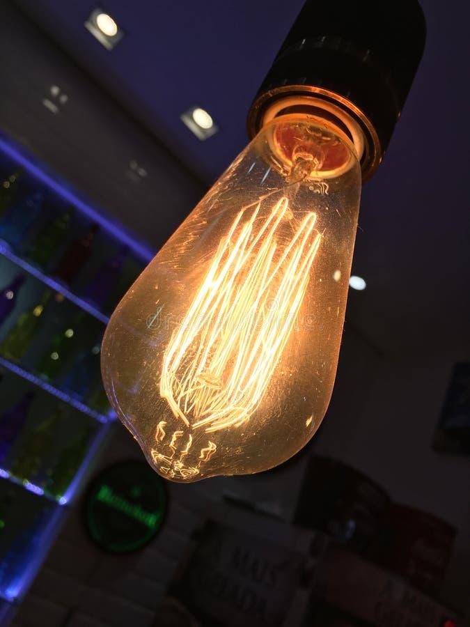 装饰细丝电灯泡 库存照片