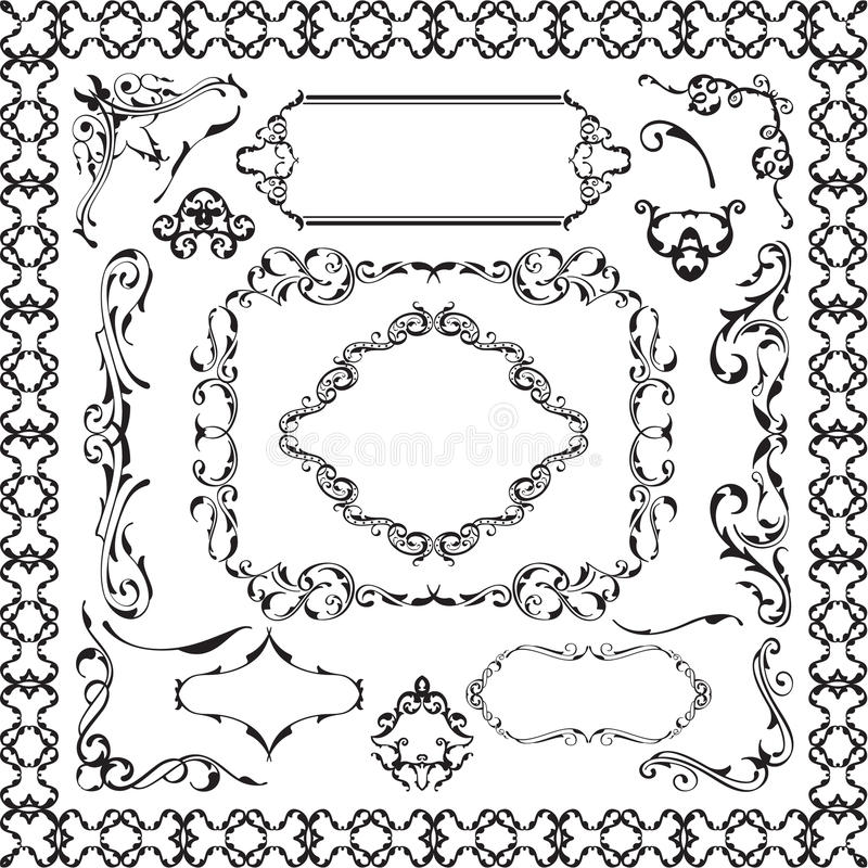 装饰ornane设计元素集 向量例证