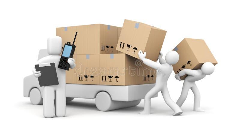 装货的管理过程 皇族释放例证