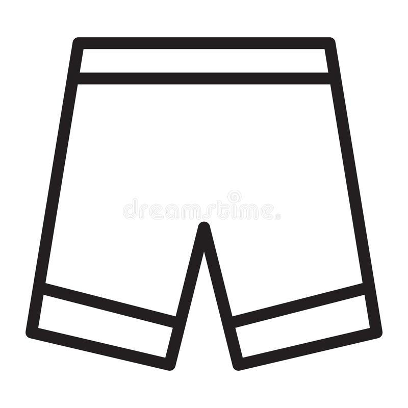 裤子短缺 库存例证