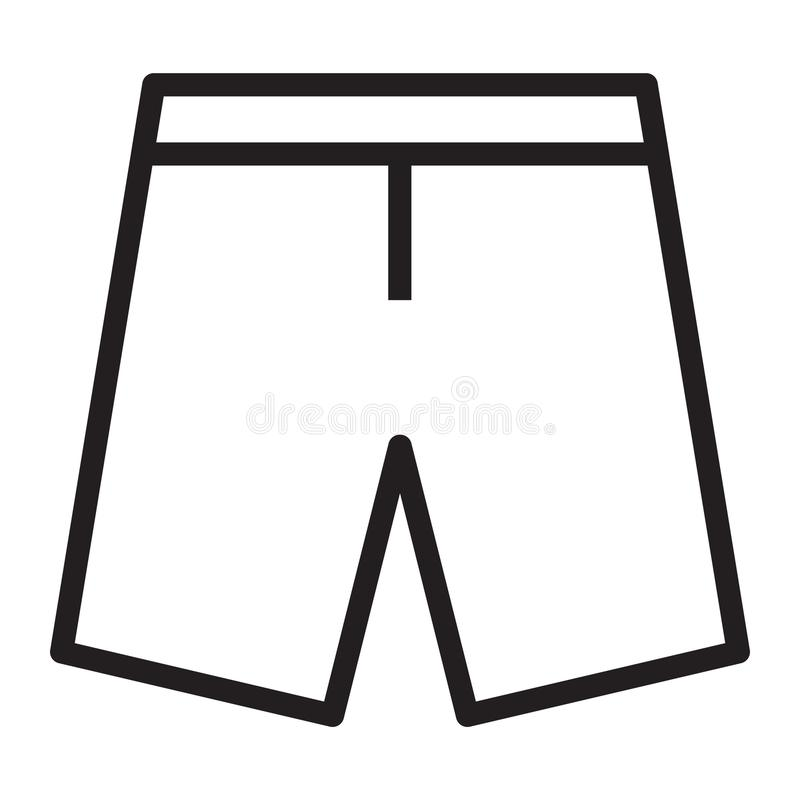 裤子短缺 向量例证