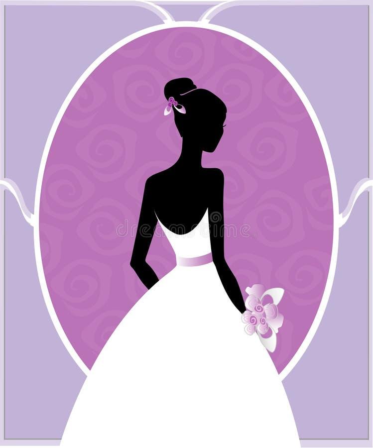 褂子剪影婚礼 向量例证