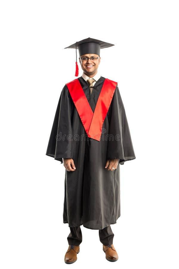 褂子和盖帽的男性非裔美国人毕业生 图库摄影
