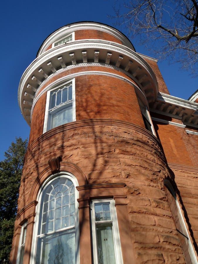 褐砂石高的乔治城 免版税库存照片