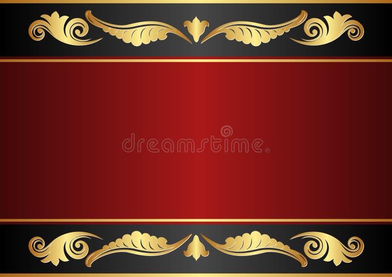 褐红和黑色背景 库存例证