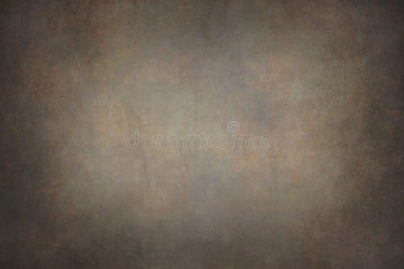 黑褐色帆布手画背景 库存照片