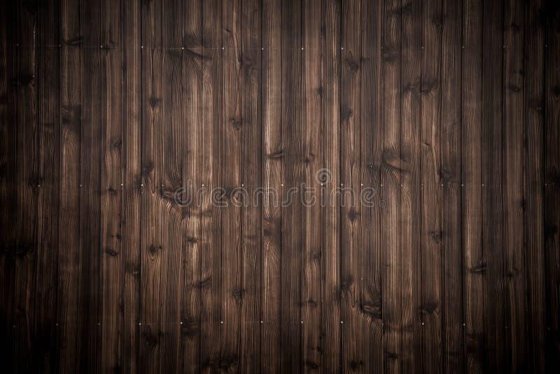 黑褐色木板条纹理背景 库存照片