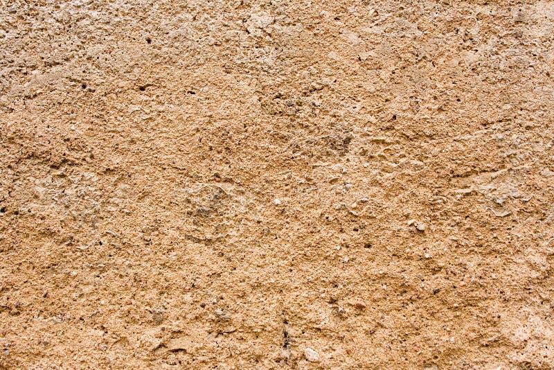 褐色水泥纹理墙壁 免版税库存照片
