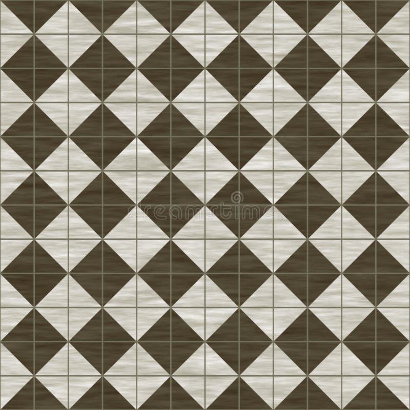褐色铺磁砖白色 向量例证