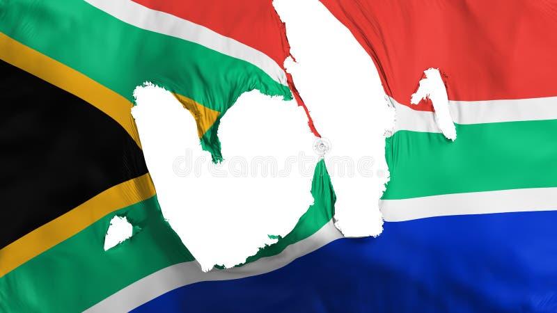 褴褛南非旗子 库存例证