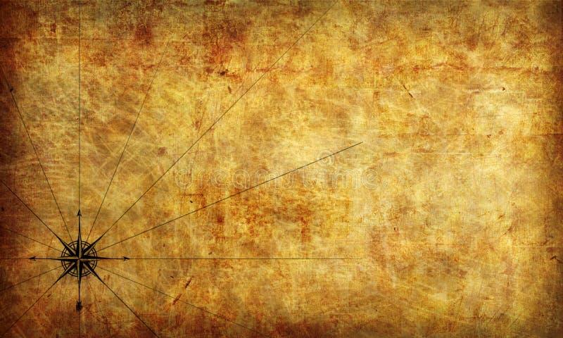 褴褛映射老纸的海盗 内部的照片墙纸 3d翻译 库存例证