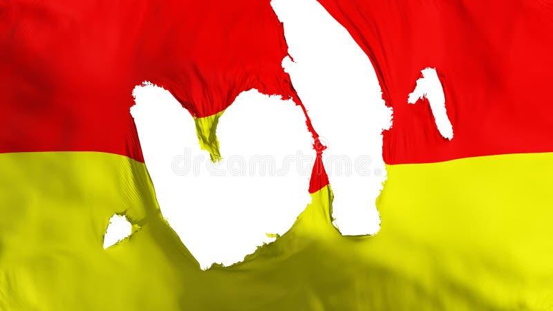 褴褛比勒陀利亚市旗子 库存例证
