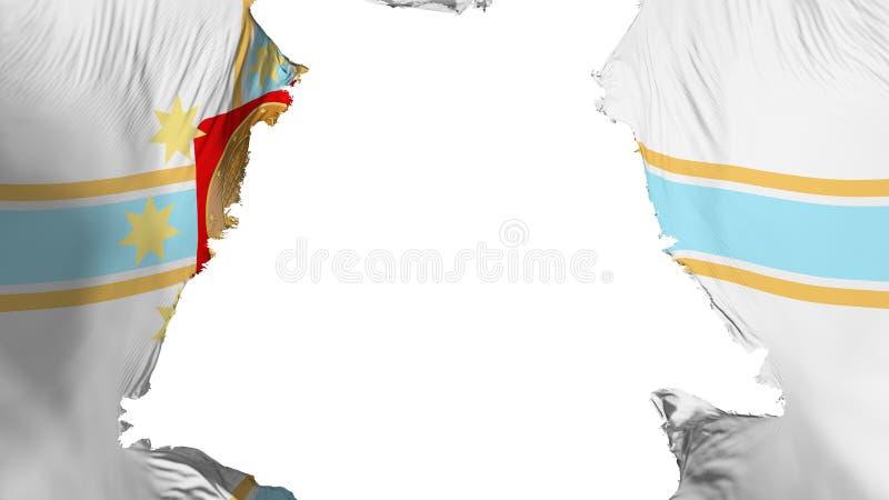 褴褛第比利斯市旗子 向量例证