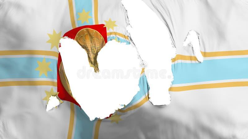 褴褛第比利斯市旗子 库存例证