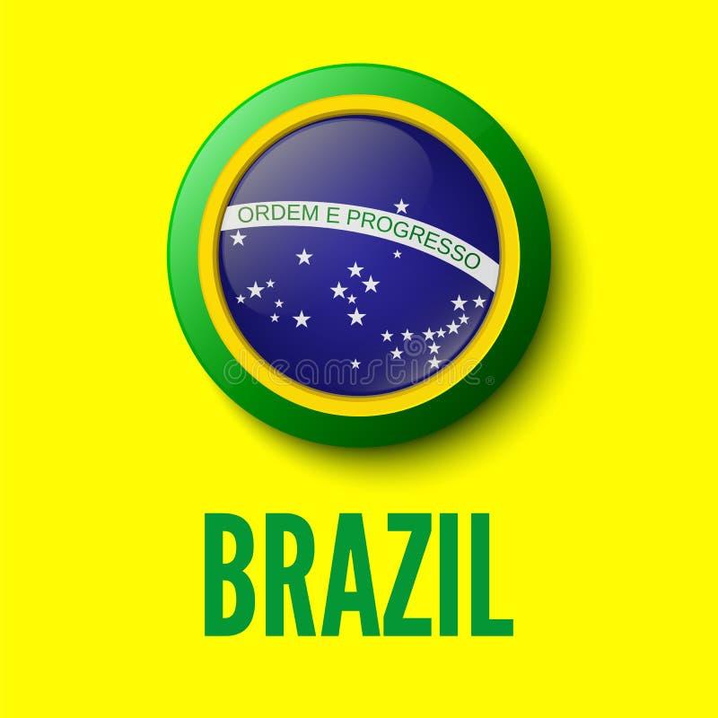 巴西。您的介绍的背景 向量例证