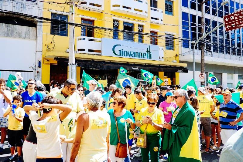 巴西人群 库存图片