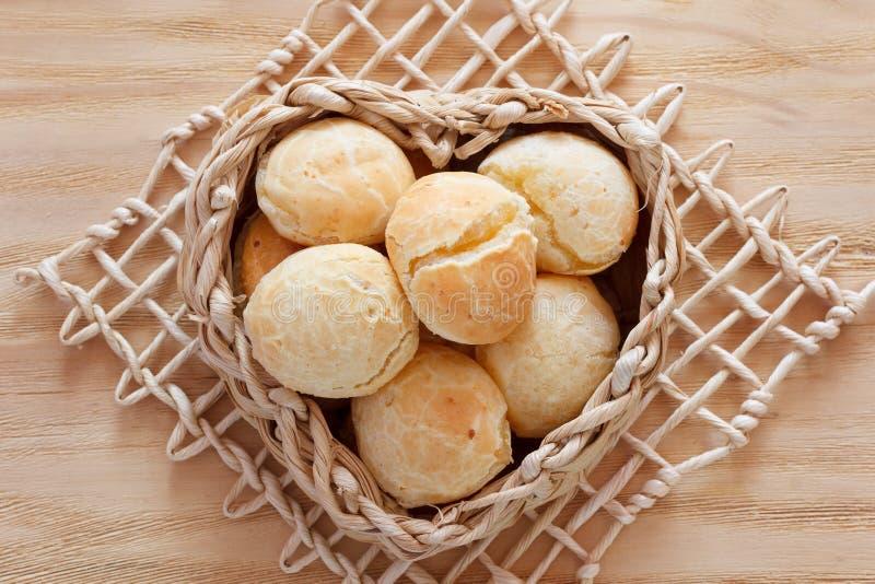 巴西人snack pao de queijo (乳酪面包) 库存图片
