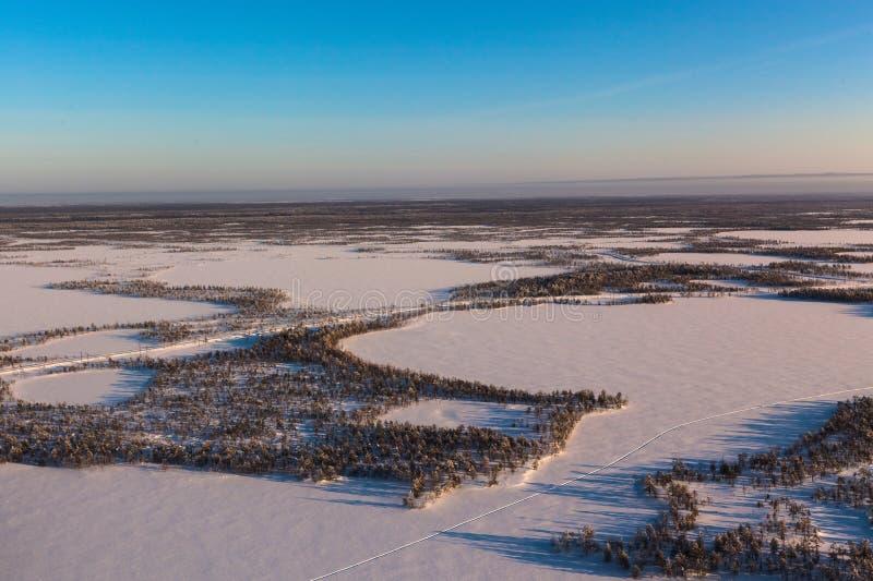 西伯利亚冬天 免版税库存图片
