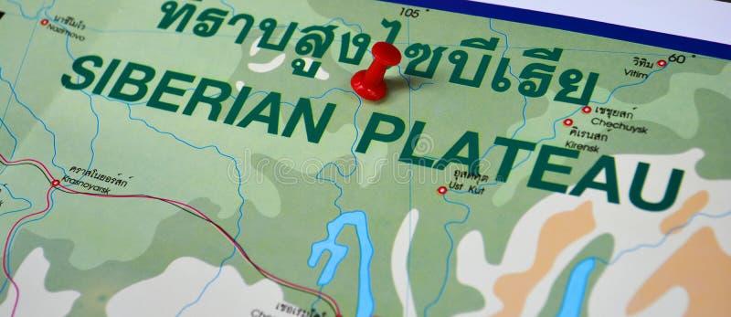 西伯利亚地图 图库摄影